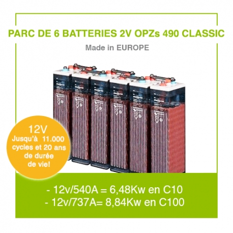 """6 Batteries 2v OPZs 490 """"Classic"""""""