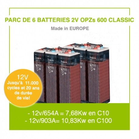 """6 Batteries 2v OPZs 600  """"Classic"""""""