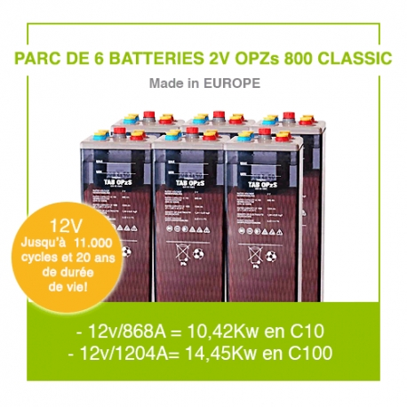 """6 Batteries 2v OPZs 800 """"Classic"""""""