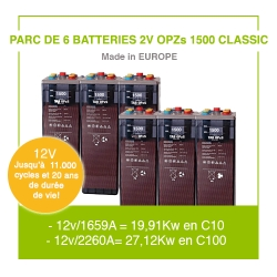 """6 Batteries 2v OPZs 1500 """"Classic"""""""