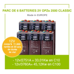 """6 Batteries 2v OPZs 2500 """"Classic"""""""