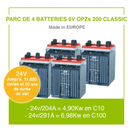 "4 Batteries 6v OPZs 200 ""Classic"""