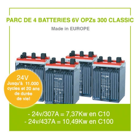 "4 Batteries 6v OPZs 300 ""Classic"""