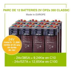 "12 Batteries 2v OPZs 350 ""Classic"""