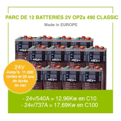 "12 Batteries 2v OPZs 490 ""Classic"""