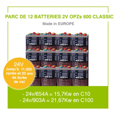 "12 Batteries 2v OPZs 600 ""Classic"""