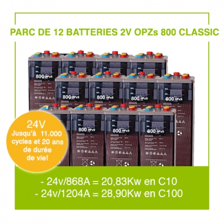 """12 Batteries 2v OPZs 800 """"Classic"""""""