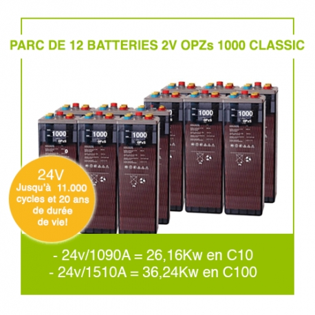 "12 Batteries 2v OPZs 1000 ""Classic"""