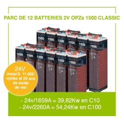 """12 Batteries 2v OPZs 1500 """"Classic"""""""