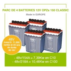 "4 Batteries 12v OPZs 150 ""Classic"""