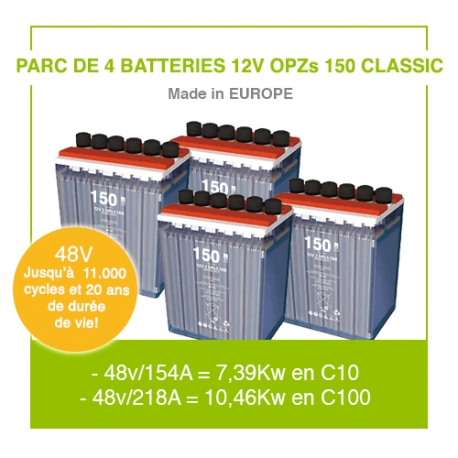 """4 Batteries 12v OPZs 150 """"Classic"""""""