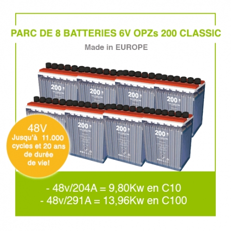 "8 Batteries 6v OPZs 200 ""Classic"""