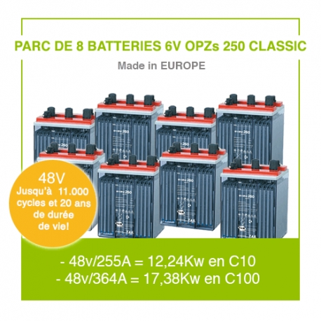 """8 Batteries 6v OPZs 250 """"Classic"""""""
