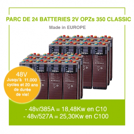 """24 Batteries 2v OPZs 350 """"Classic"""""""