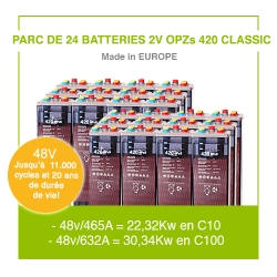 """24 Batteries 2v OPZs 420 """"Classic"""""""