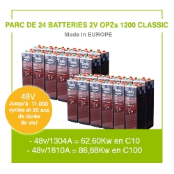 """24 Batteries 2v OPZs 1200 """"Classic"""""""