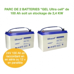Parc de 2 Batteries de 100Ah 12v GEL UCG