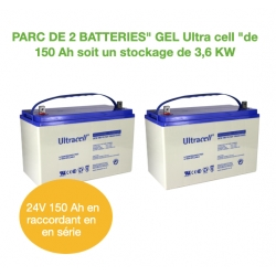 Parc de 2 Batteries de 150Ah 12v GEL UCG