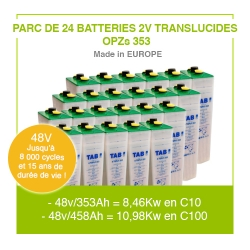 "Parc 24 Batteries 2v ""Translucides OPZs"" 353"