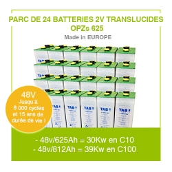 "Parc 24 Batteries 2v ""Translucides OPZs"" 625"