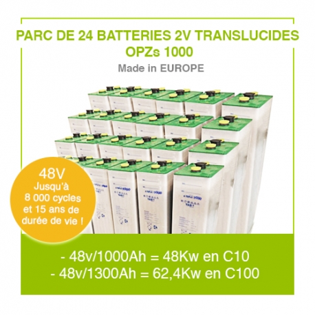 "Parc 24 Batteries 2v ""Translucides OPZs"" 1000"